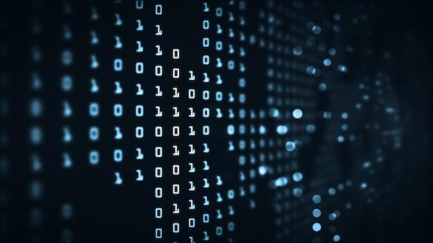 Abstract technology big data binary code futuristic background . Premium Photo