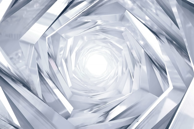 Abstract technology round tunnel background Premium Photo