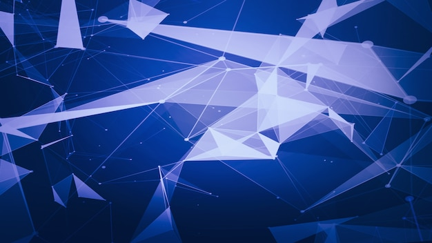 Abstract technology and science background futuristic network background Premium Photo