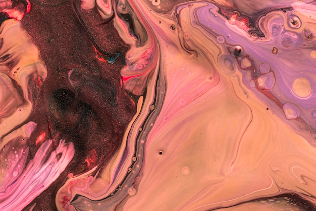 Abstract violet ink effect on water Free Photo