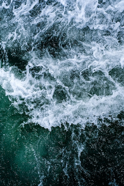 Abstract water ocean waves texture. Premium Photo