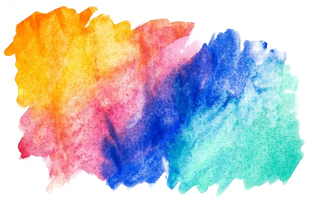 Abstract watercolor art hand paint on white background. Premium Photo