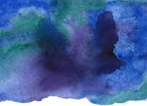 Abstract watercolor brush background. hand painted illustration. Premium Photo