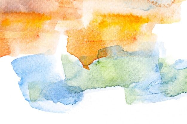 抽象的な水彩ブラシストロークの背景。 Premium写真