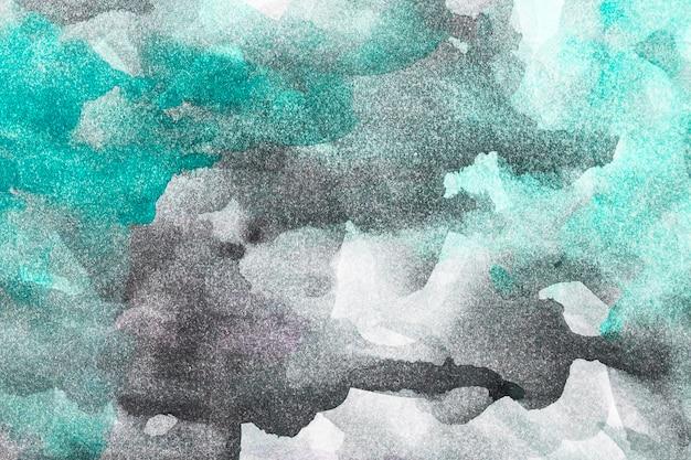 抽象的な水彩画の緑と黒の背景 無料写真