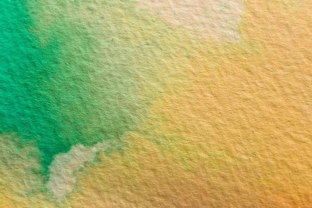 抽象的な水彩オレンジと緑の背景 無料写真