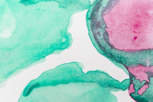 抽象的な水彩ピンクと緑の背景 無料写真