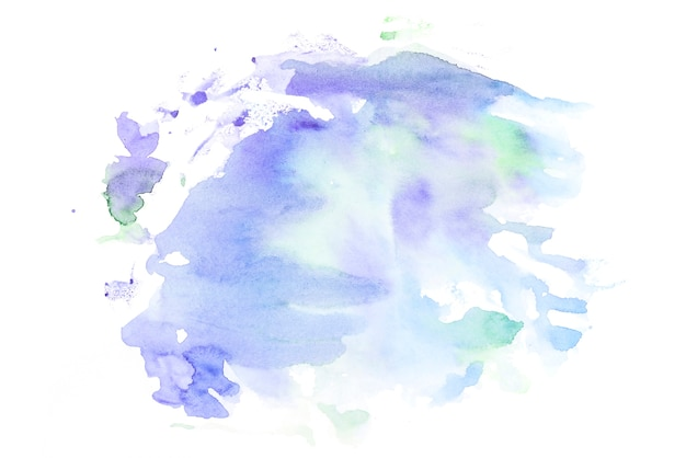 Abstract watercolor stain on white paper Free Photo