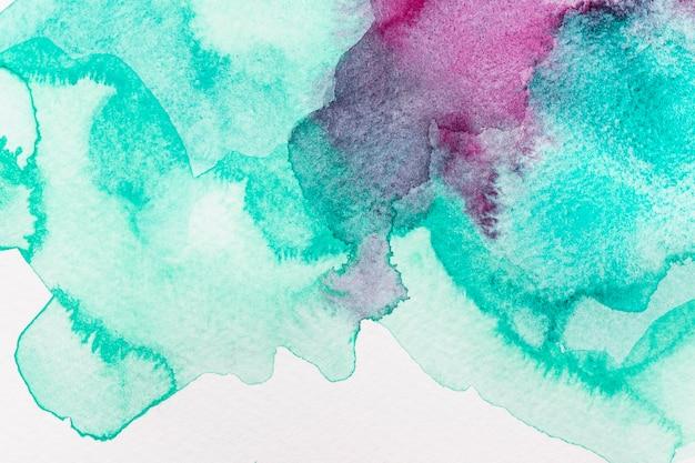 추상 수채화 보라색과 녹색 배경 무료 사진