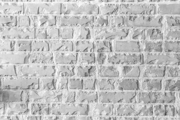 Abstract weathered texture white brick wall background Free Photo