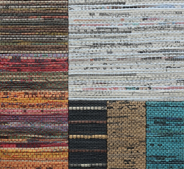 Abstract weave texture made from recycled newspaper texture Premium Photo