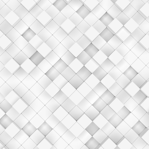 Abstract white blocks, 3d rendering Premium Photo