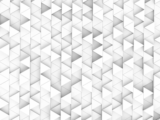 Abstract white blocks, 3d rendering Premium Photo