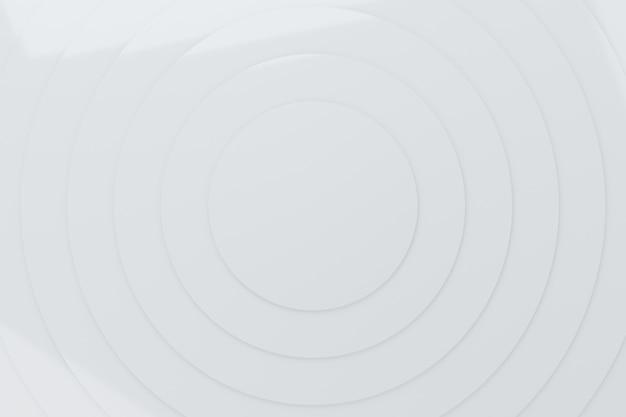 Абстрактные белые круги волна узор анимация фон 3d-рендеринг Premium Фотографии