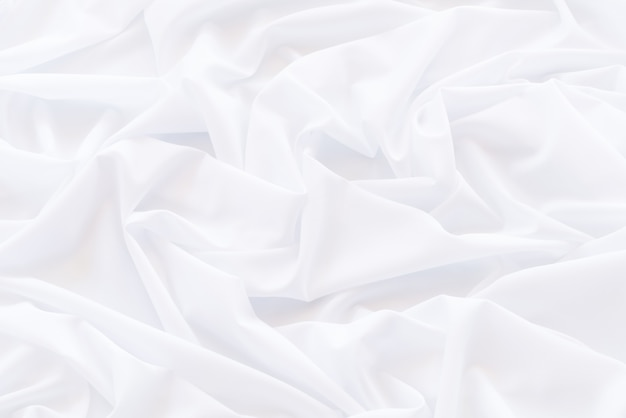 Abstract white drapery cloth, pattern and detail grooved of white fabric for background and abstract Premium Photo