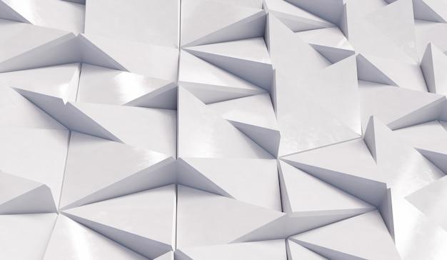 抽象的な白い三角形の背景 Premium写真