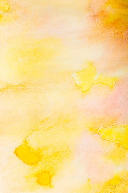 抽象的な黄色aquarelle背景 無料写真