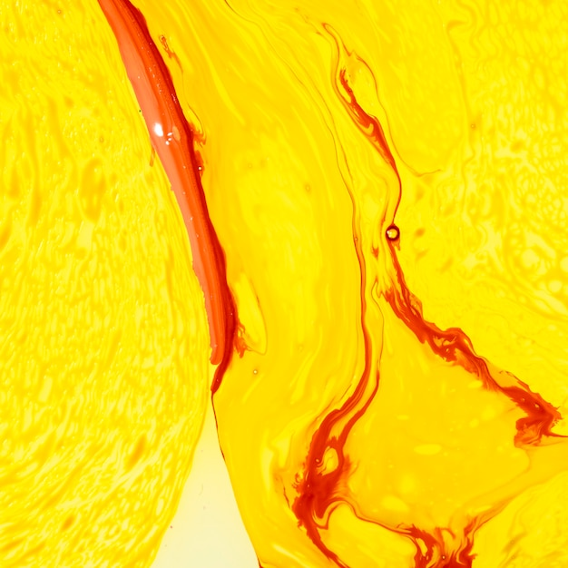 Abstract yellow layers with red lines Free Photo