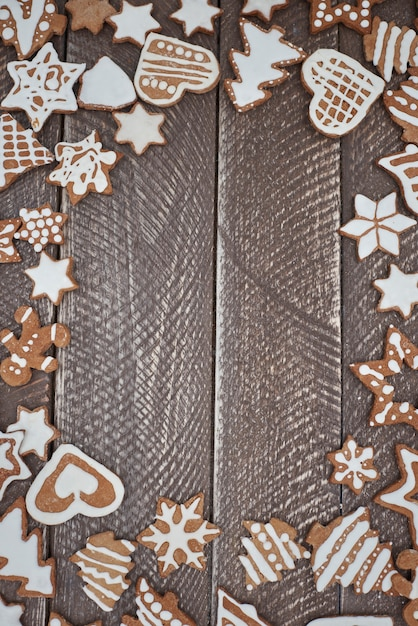 Abundance of gingerbread with buttercream Free Photo