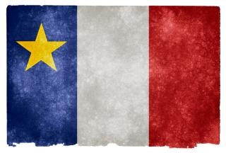 Acadian grunge flag  striped Free Photo