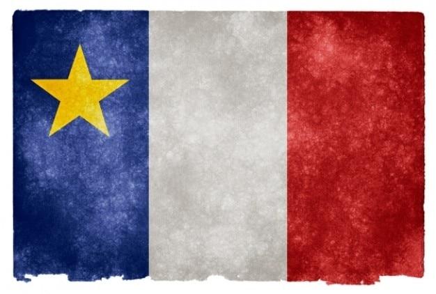 Acadian grunge flag Free Photo