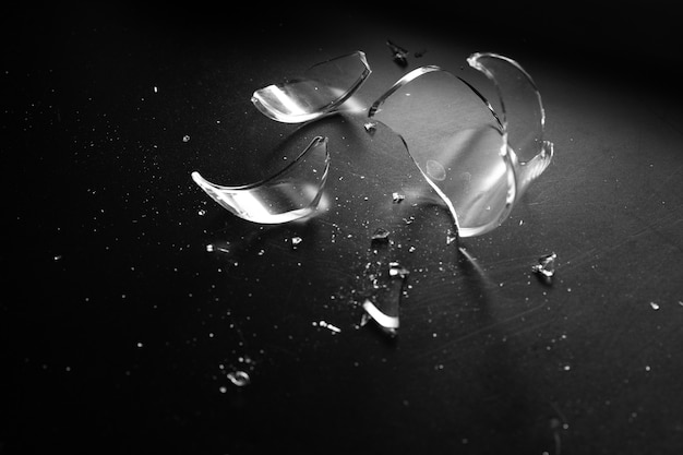 Accident glass break sharp and danger Premium Photo