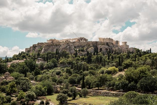 Acropolis of athens, greece Free Photo