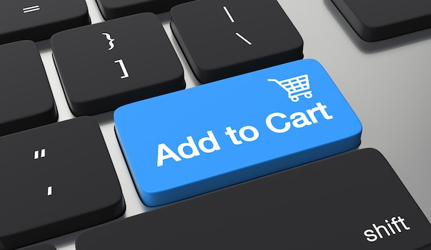 premium photo   add to cart keyboard button. shopping online concept  freepik
