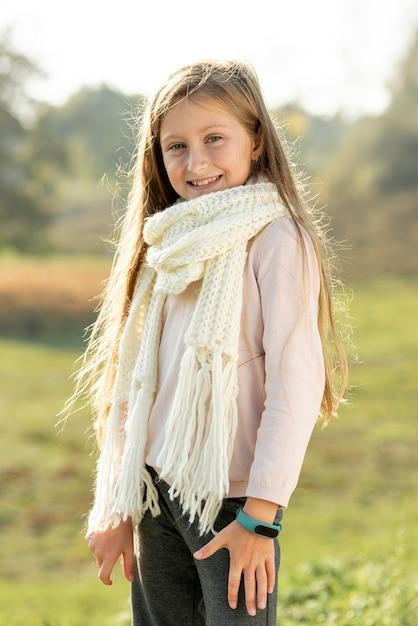 Adorable little girl posing fashion Free Photo