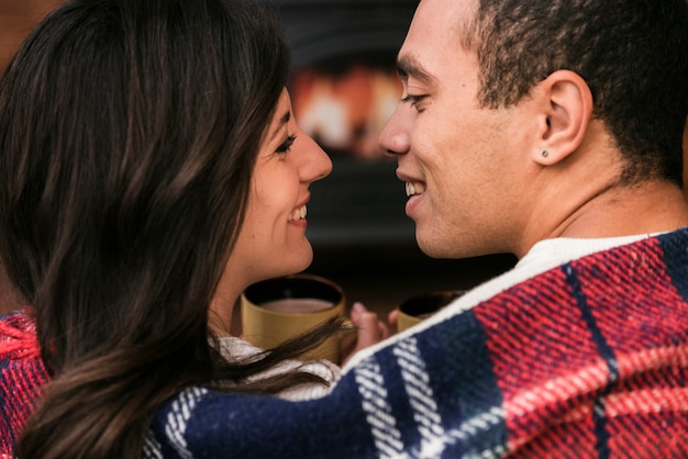Adorable young couple in love Free Photo