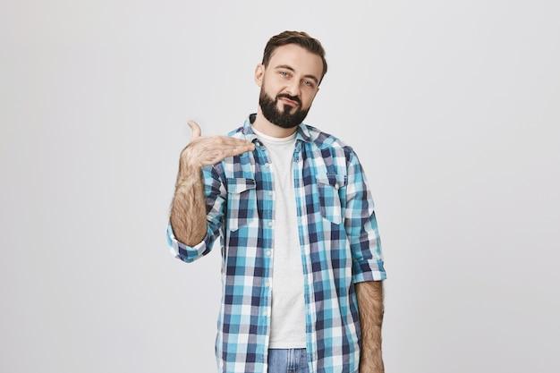Взрослый бородатый мужчина ведет себя круто, попросите выключить музыку Бесплатные Фотографии