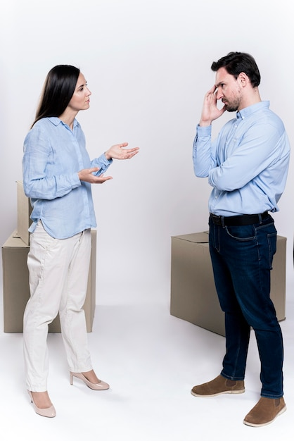Adult woman and male arguing Free Photo