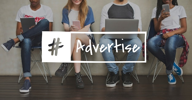 Advertising advetise consumer advertisement icon Free Photo