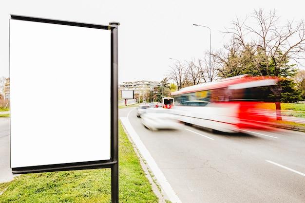 Advertising billboard on the city roadside Free Photo