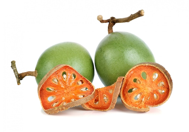 Aegle marmelosと白のドライベールフルーツ Premium写真