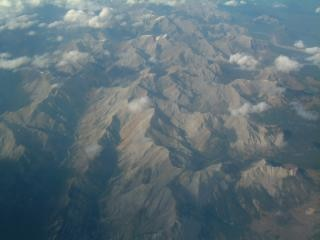 Aerial of canadian rockies, alberta Free Photo