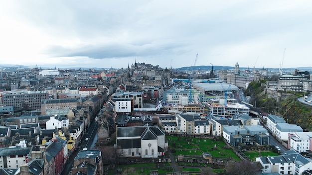 Aerial edinburgh Premium Photo