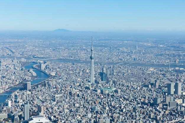 Аэрофотоснимок токио сити Premium Фотографии