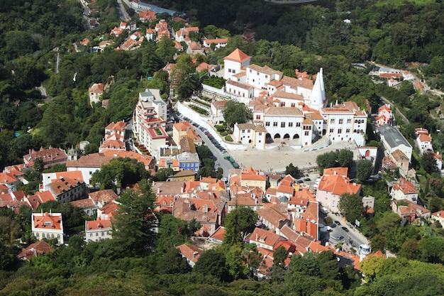 Воздушная выстрел из красивой архитектуры в лиссабоне, португалия Бесплатные Фотографии