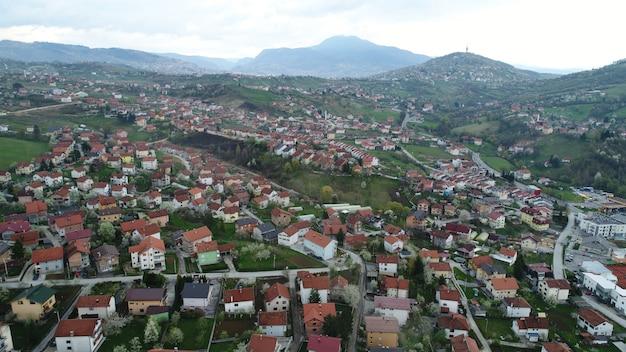 Aerial suburb Premium Photo