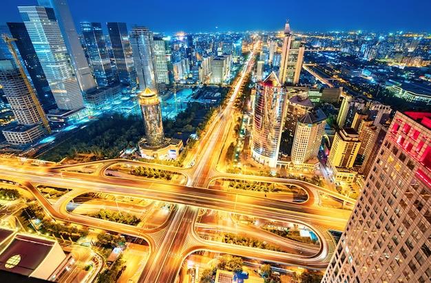 Aerial view of beijing Premium Photo
