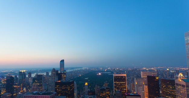 Aerial view of central park in new york city Premium Photo
