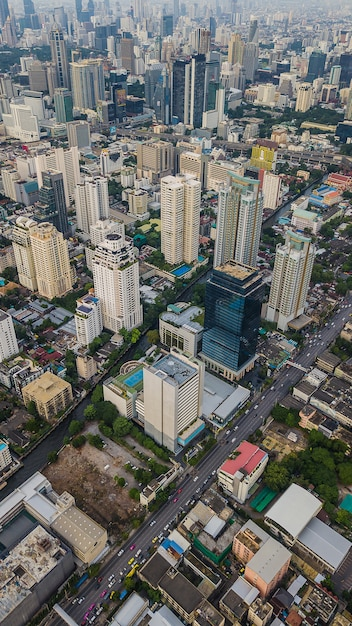 An aerial view of city Premium Photo