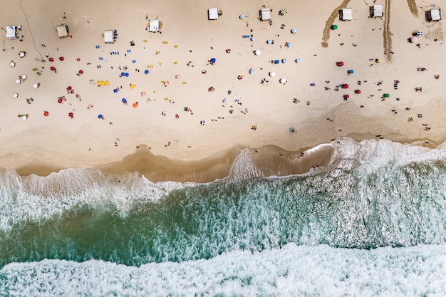 Aerial view of copacabana beach. Premium Photo