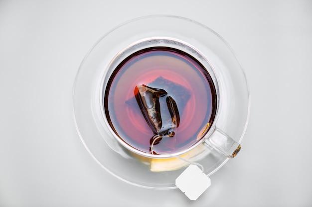 Aerial view of hot tea Free Photo