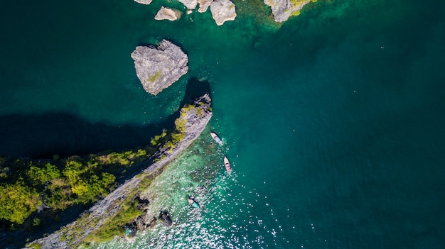 Aerial view landscape of  island Premium Photo