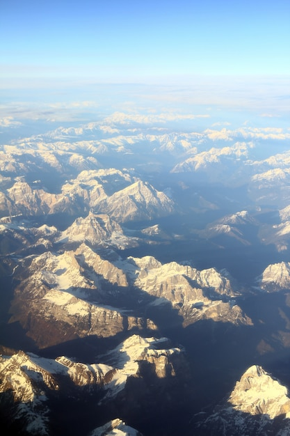 Aerial view of mountaints Free Photo