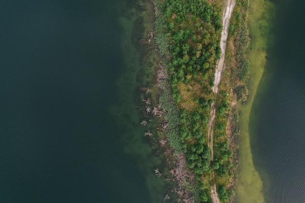 湖の空撮 無料写真