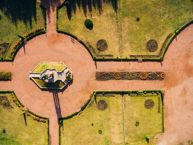 Aerial view photo of the marian spiritual center zarvanytsia. Premium Photo