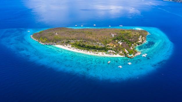 Aerial view of the sumilon island Premium Photo